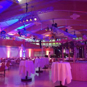 Lichttechnik im Saal