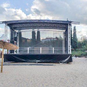 Mobile Bühne am Stand
